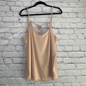 Splendid | Fringe Tie Tank Top NWT | XL